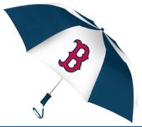 Storm Duds Boston Red Sox 48 inch Automatic Folding Umbrella – Navy/White