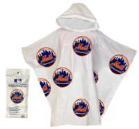 Storm Duds New York Mets Lightweight Stadium Adult Adjustable Hood Rain Poncho