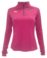 361 Degrees Women's Long Sleeve Zipper Athletic Shirt Top, Rose Pink. 401520105