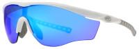 Rawlings Men's Adult Sport Sunglasses – White Frame & Blue Mirror Lenses W/Case