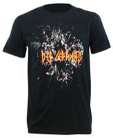 Men's Def Leppard Shatter Logo Short Sleeve Crew Neck Graphic T-Shirt – Black
