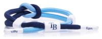 Rastaclat Baseball Tampa Bay Rays Outfield Knotted Bracelet - Navy & Light Blue
