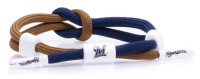 Rastaclat Baseball Milwaukee Brewers Outfield Knotted Bracelet – Navy & Gold