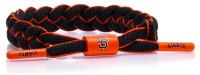 Rastaclat Baseball San Francisco Giants Infield Braided Bracelet– Black & Orange