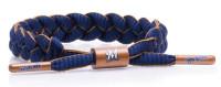 Rastaclat Baseball Milwaukee Brewers Infield Braided Bracelet – Navy & Gold