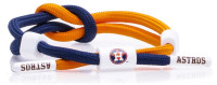 Rastaclat Baseball Houston Astros Outfield Knotted Bracelet – Blue/Orange/White