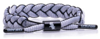 Rastaclat Baseball Chicago White Sox Infield Braided Bracelet – Silver & Black