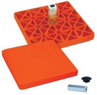 Champro Pro Style Rubber Safety Base Baseball/Softball Rubber Orange B076
