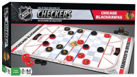 MasterPieces NHL Chicago Blackhawks Collectible Classic Checkers Board Game Set