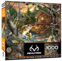 """MasterPieces RealTree """"The One That Got Away"""" 1000 Piece Jigsaw Puzzle W/Poster"""