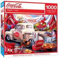 """MasterPieces Coca-Cola """"Tailgate"""" Scene 1000 Piece Jigsaw Puzzle With Poster"""