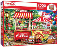 """MasterPieces Coca-Cola """"Stand"""" Scene 2000 Piece Jigsaw Puzzle With Poster"""
