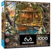 """MasterPieces RealTree """"Gone Fishing"""" 1000 Piece 26.75"""" x 19.25"""" Jigsaw Puzzle"""