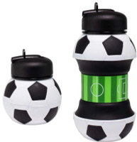 Maccabi Art Collapsible Silicone Soccer Ball Water Bottle, Expands To 18 Ounces