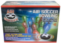 Maccabi Art Fast Action Air Soccer Disc Bowling With Light-Up Glowing Pins
