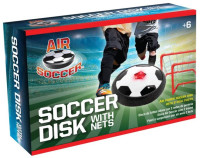 Maccabi Art Air Soccer Hover Ball Disk With LED Lights And 2 Goal Post Nets