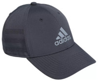 Adidas Gameday III Stretch Fit Structured 3-Stripe Baseball Cap – Gray