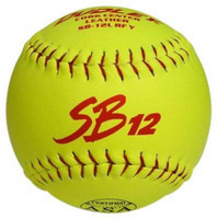 "Dudley ASA SB 12L 12"" Modified Slow Pitch Yellow Softballs, 1 Dozen. 4A137Y"