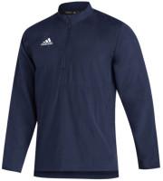 Adidas Men's Aeroready Sideline 21 Woven ¼ Zip Long Sleeve Pullover Top
