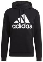 Adidas Men's Essentials Fleece Big Logo Pullover Hooded Sweatshirt – Black