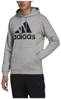 Adidas Men's Essentials Fleece Big Logo Pullover Hooded Sweatshirt – Gray