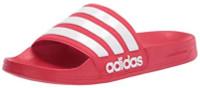 Adidas Mens Adilette Shower Locker Slide Shoe Water Sandal Red