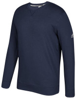 Adidas Men's Essential Fleece Pullover Crew Neck Sweatshirt – Navy/White