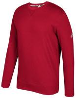 Adidas Men's Essential Fleece Pullover Crew Neck Sweatshirt – Power Red/White