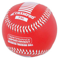 CHAMPRO SPORTS Training Baseball, Weighted 7oz Red Leather Ball CBB707