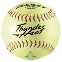 Dudley Thunder HYCON HEAT ASA SFB Slow Pitch Leather Softballs, 1 Dozen. 4A065Y