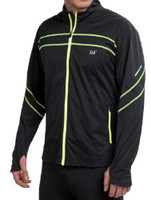 361 Degrees Men's Speed Jacket Reflective Striping Black/Safety Yellow 301520116
