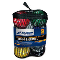 CHAMPRO SPORTS Weighted Training Baseballs, Team, Set 6 Balls CBB7S