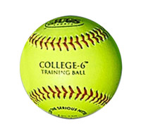 "JUGS College-6 Soft Training Balls 1 Dozen Softballs 8.5""/3.5 oz. Yellow. B9220"
