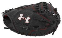 "Under Armour ADULT Pro Series 34"" Catchers Baseball Mitt, Black/Red. UACM-PRO1"