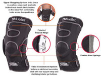 "Mueller Hg80 Hinged Knee Brace HydraCinn, Fits 14"" - 16"" MEDIUM Black 54012"