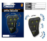 Champro Umpire Ump Indicator, 4 Dial. Counter Track Pitches Base/Softball A048