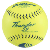 "Dudley Thunder SY 11"" USSSA Classic W Slow Pitch Yellow Softballs Set 12 4U542Y"