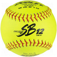 Dudley SB 12L NFHS Cork Center Fast Pitch Leather Softballs, 1 Dozen. 4H-311Y