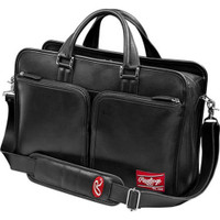 Rawlings Baseball Premium Heart of the Hide Black Leather Briefcase. HOHBCB