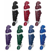 "Easton Women's MAKO Fastpitch Baseball Catchers Leg Shin Guards 16"".  A165306"