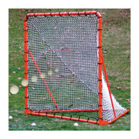 EZGoal 6 x 6 ft Folding Lacrosse Goal with Throwback Rebounder 87615