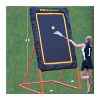 EZGoal 8-Feet Lacrosse Folding and Tilting Rebounder & Throwback, 86321