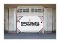 EZGoal 10' x 6' Steel Folding Hockey Backstop Kit Net & Targets 65121