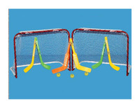 "EZGoal 30"" x 22"" Folding Metal Mini Hockey Goal Set of 2, Knee Hockey 67202"