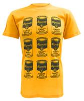Sauce Hockey Men's Tee, Graphic Short Sleeve T-Shirt - Yellow B-0000-12