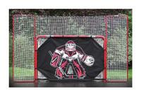 EZGoal 10' x 6' Steel Folding DELUXE Hockey Goal with Backstop & Targets 67009