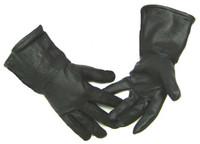 Northstar Mens Black Deerskin 4 Inch Gauntlet Gloves, Fleeced Lined Biker 317B