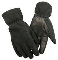 Northstar Unisex Fleece Thinsulate Gloves with Waterproof Bladder, Black. 501BK