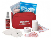 Mueller First Aid Sport Kit, Gloves, Bandages, Tape, Guaze Red Nylon. 200738