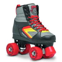 Roces Womens Kolossal Fitness Quad Skates Roller Skate Black/Gray/Red 550041
